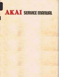 Akai GX F44R Stereo Cassette Service Manual