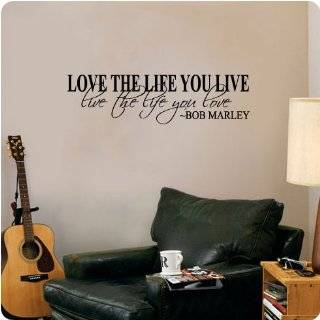 Bob Marley Quote Wall Decal Decor Love Life Words Large Nice Sticker