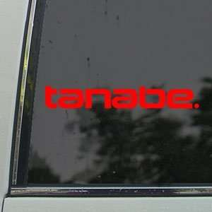 TANABE Red Decal Racing Development Exhaust Car Red