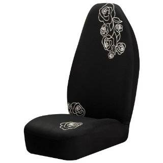 Auto Expressions 800002152 Black Lace Rose Universal Bucket Seat Cover