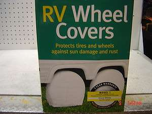 NEW SET OF 4 CLASSIC RV WHEEL & TIRE STORAGE COVERS
