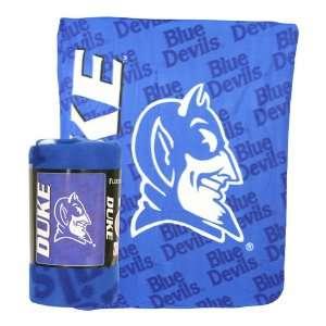 Duke University Blue Devils Lightweight Fleece Blanket (Measures 50 x