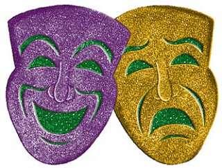 Comedy / Tragedy 3D Glitter Masks