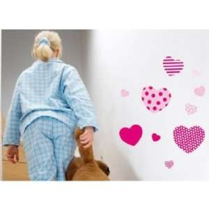 Hearts Removable Wall Decal Stickers Baby