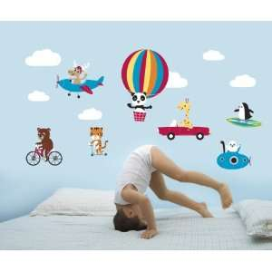 Forwalls Animal Capers Removable Wall Decal Stickers Baby