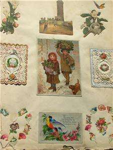 Antique Victorian Scrapbook Valentines Fireman Diecuts Tradecards