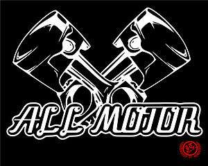 ALL MOTOR DECAL HOT ROD JDM 4X4 TRUCK FUNNYFREE SHIPPING
