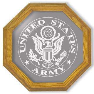 US ARMY EMBLEM SEAL LOGO OCAGON ECHED WALL MIRROR 13 |