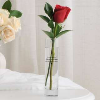 In Loving Memory Printed Bud Vase Wedding Centerpiece