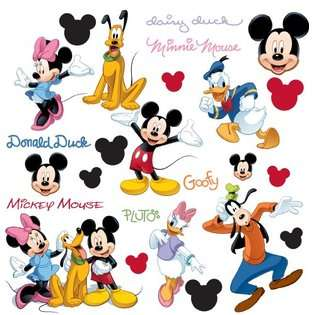 RMK1507SCS Mickey and Friends Peel & Stick Wall Decal