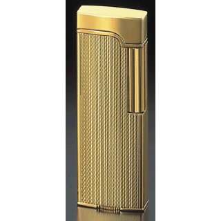 Corona ELYSEÉ Gold Plate Engine Turned Barley Pipe Lighter