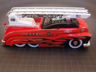 CUSTOM CREW RED FIRE ENGINE LADDER TRUCK BUS SLEDSTER