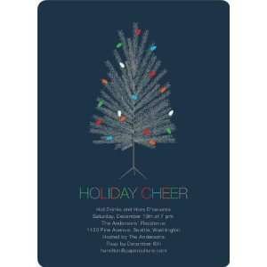 Colorful Christmas Tree Holiday Party Invitations Health