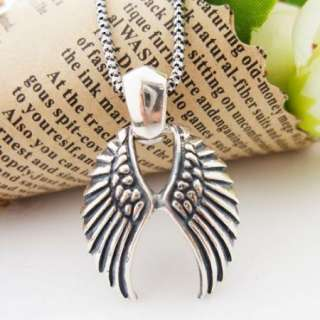 925 Sterling Silver Angel Wing Charm Pendant Jewelry