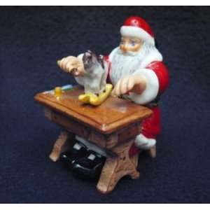 Santa Making Christmas Toys French Limoges Box
