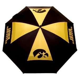 Iowa Hawkeyes 62 Team Logo Golf Umbrella   Golf: Sports
