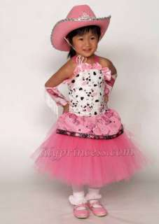 cowgirl Tutu dress princess birthday pageant halloween dress 6pc 1T 7T