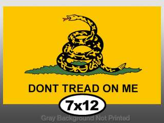 Large Dont Tread On Me Flag Sticker  big dont stickers
