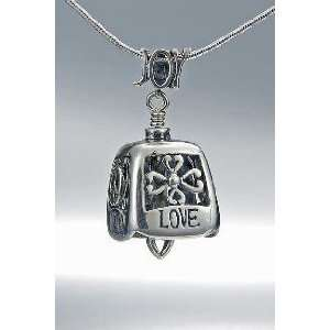 The Bell Collection JJ066 Harmony Bell necklace in sterling silver
