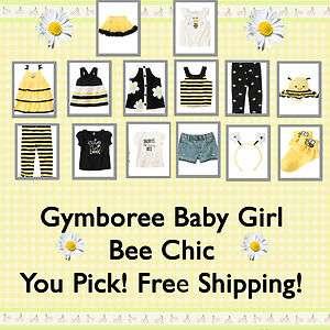 Gymboree Baby Girl Bee Chic NWT Dress,Top,Legging U Pick 6 12 18 2T