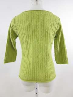 FREE PEOPLE Lime Green Wool Cable Knit Sweater Sz M