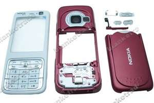 For Nokia N73 Full Housing Cover Keypad TL Red White