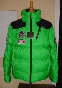 Ralph Lauren Green Down Puffer Coat RLX Radial Italy Expedition