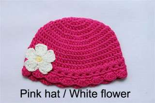 Cute Gorgeous Baby/Newborn Flower Crochet Hat/Beanie
