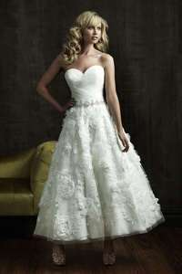 Feet length sweetheart white Wedding Dress party gown sleeveless