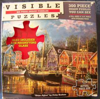 Nicky Boehme Puzzle SHIPS AGLOW 300 EZ LARGE PIECES
