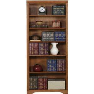 Coastal 93372NGDK Coastal Oak Ridge 72 Open Bookcase  Dark
