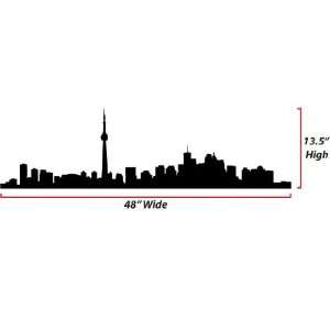 Toronto Skyline Silhouette  Large  Vinyl Wall Decal: Everything Else