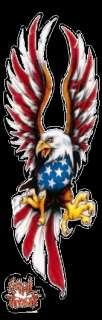 Aufkleber USA Eagle Adler Airbrush Decal Truck Trike Quad Auto Hot Rod