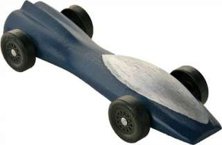 Pinewood Derby Car The Jet Pre Cut Car Block   Weighted