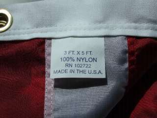 3X5 US AMERICAN FLAG EMBROIDED NYLON MADE FOR OUTDOORS