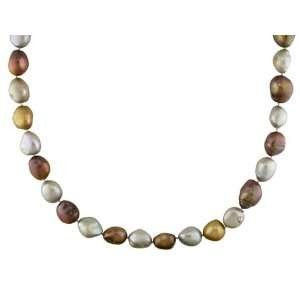 Fresh Water Multi Colored Pearl Endless Necklace (9 11 mm