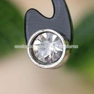 2p Clear Crystal Stainless Steel Round Fashion Ear Stud