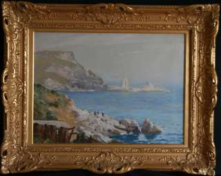 1930) ANSTEYS COVE DEVON BRITISH IMPRESSIONIST OIL PAINTING