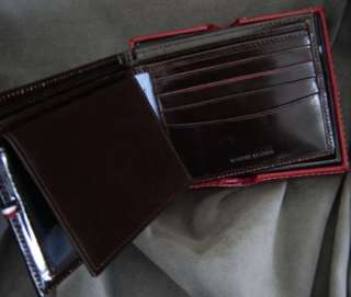 NWT TOMMY HILFIGER GENUINE MENS LEATHER WALLET BROWN