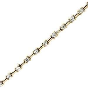 14K Yellow Gold 1 ct. Diamond Tennis Bracelet Katarina Jewelry