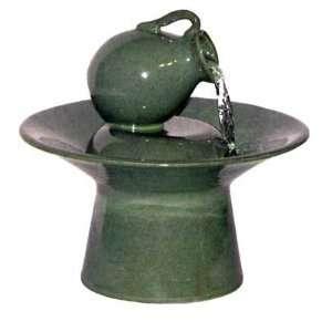 Table fountains blue ceramic tea pot tabletop water fountain