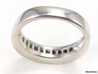 25 ctw VS, G H DIAMOND Wedding Band   14k Solid White Gold Elegant
