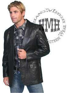 Scully Oakridge Western Cowboy Leather Coat Jacket Blazer Black