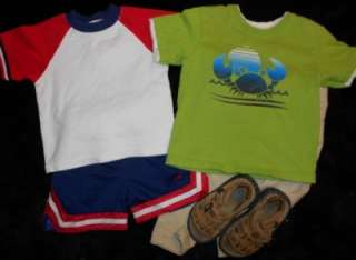 LOT BOYS SPRING SUMMER CLOTHES SIZE 18 24 MONTHS OUTFITS SETS