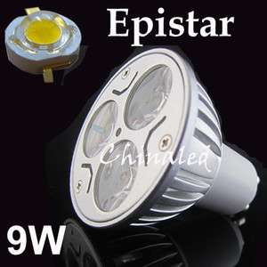 9W GU10 Energy Saving Power LED Lamp Bulb Downlight Interior Light
