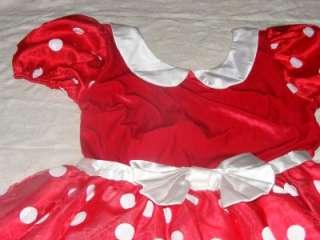 Disney Womens Minnie Mouse Adult Costume Red Polka Dot Dress Large L