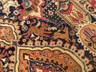 6x9 Beautiful Handmade Antique Persian Kashmar Wool Rug