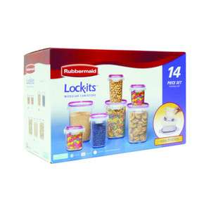 Lock Its 14 Piece Modular Canister Food Storage Container Set