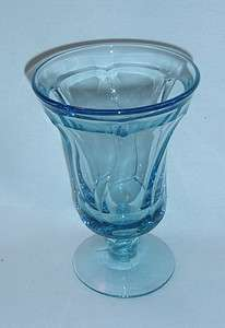 JAMESTOWN LIGHT BLUE ICED TEA GLASS GOBLET SWIRL PATTERN EUC