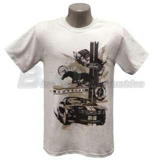 Running Horse Engine Paint Elements Gray Cotton T Shirt Shirt